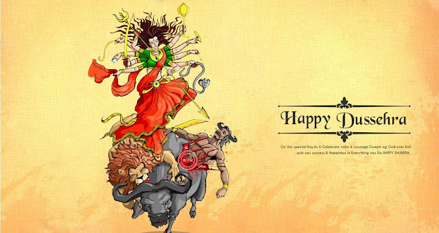 Happy Dussehra 2016 SMS Messages Greetings Quotes Cards in English