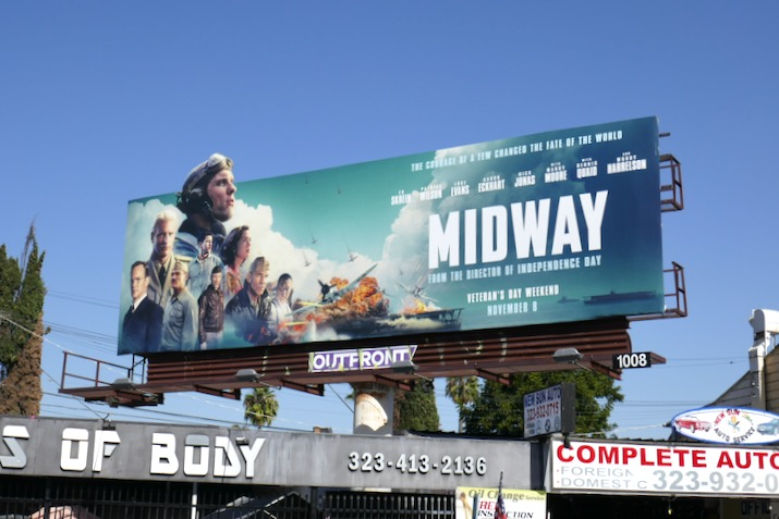Midway cut-out billboard