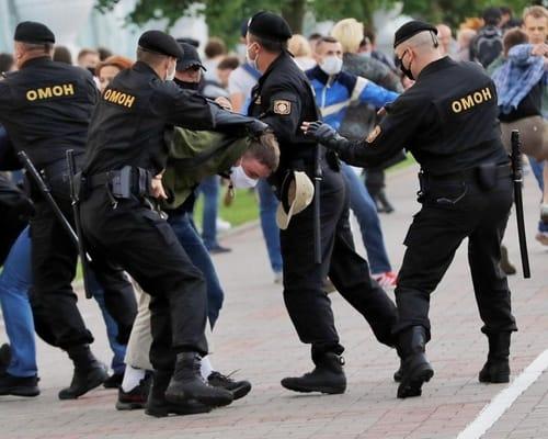 Leaked details of police officers in Belarus
