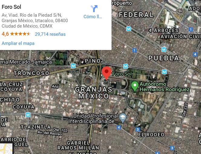 Mapa de Ubicacion del Foro