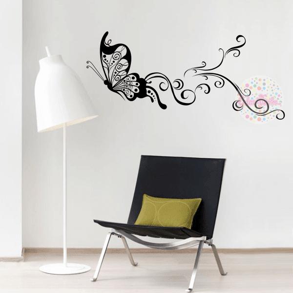 Vinilos mariposas para pared vinilos con mariposas y pajaritos mutta arte de pegatina de pared Mariposas decorativas ikea