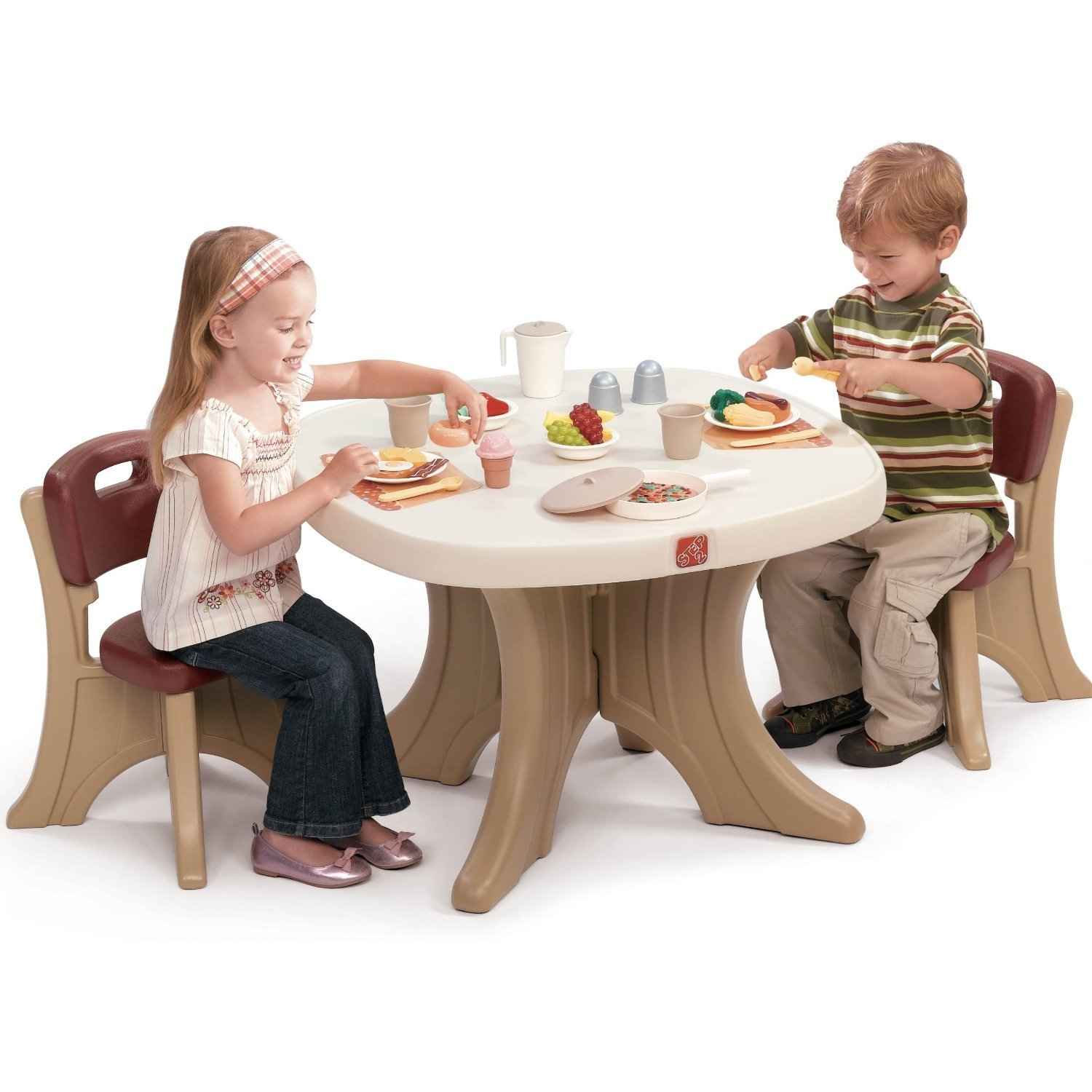 Total fab children 39 s plastic table and chair sets for Kids sitting furniture