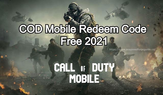 COD Mobile Redeem Code Free 2021