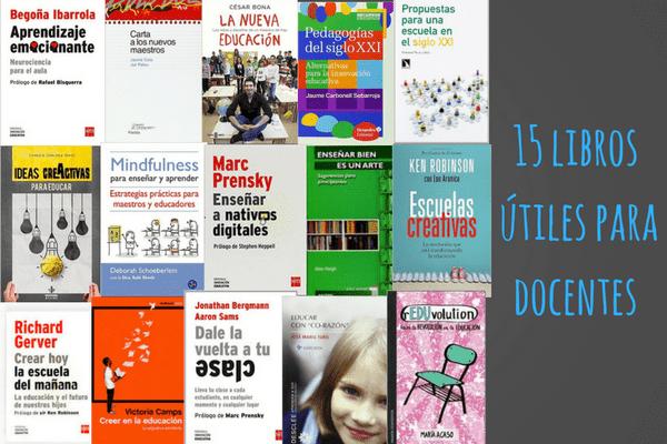 15 libros útiles para docentes