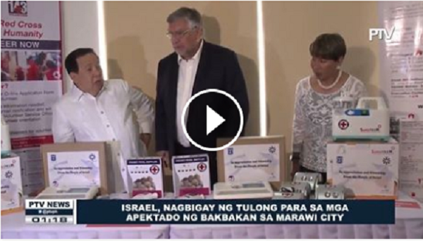 WATCH   Israel, nagbigay ng tulong para sa mga apektado ng bakbakan sa Marawi City