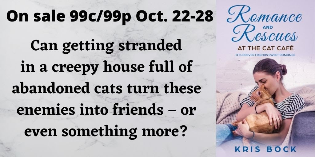 A #SweetRomance on sale for #99c - #Romance and Rescues at the Cat Café  #MFRWorg