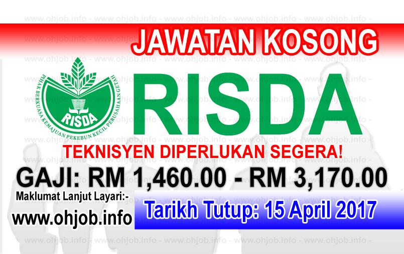 Jawatan Kerja Kosong RISDA - Pihak Berkuasa Kemajuan Pekebun Kecil Perusahaan Getah logo www.ohjob.info april 2017