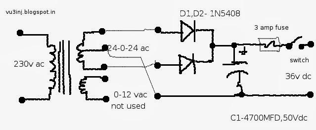 INDRAJITSINH: power supply, 36 volts
