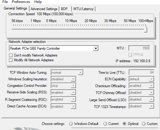 tcp optimizer windows 10