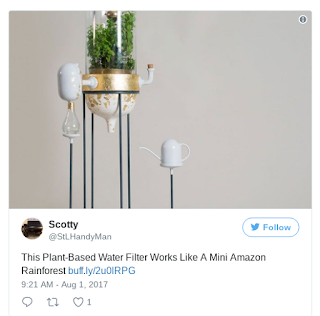 Plant-Based Water Filter Works Like A Mini Amazon Rainforest https://t.co/lIpu4iLvkK pic.twitter.com/YOGve4Saej — Scotty