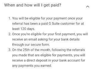 G suite, gsuite referral program, gsuite referral program india, gsuite referral program payments