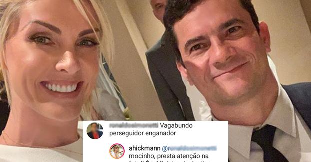 Ana Hickmann é criticada em foto com Sérgio Moro
