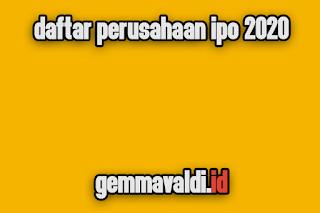 daftar ipo 2020