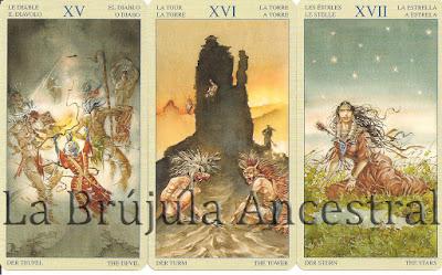 Diablo - Torre - Estrella del Tarot de los Nativos Americanos