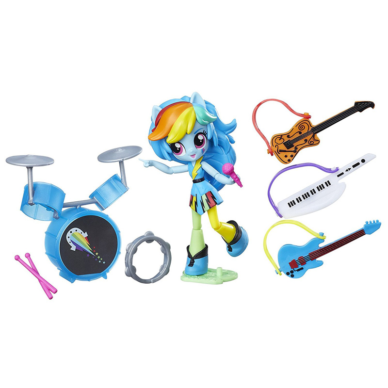 My Little Pony Equestria Girls Minis Rainbow Rocks Rockin' Music Class Set Rainbow  Dash Figure MLP Merch
