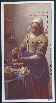 Netherlands Antilles 2008 Johannes Vermeer Painting Sheet