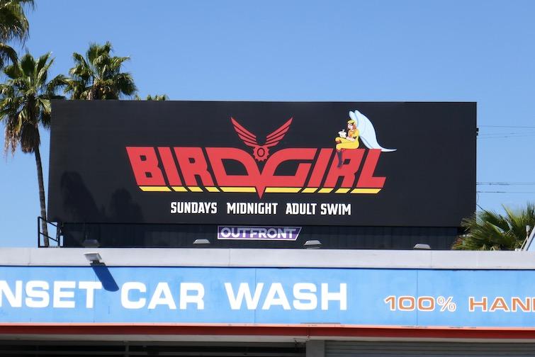 Birdgirl series launch billboard
