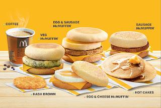 McDonald's launch breakfast menu