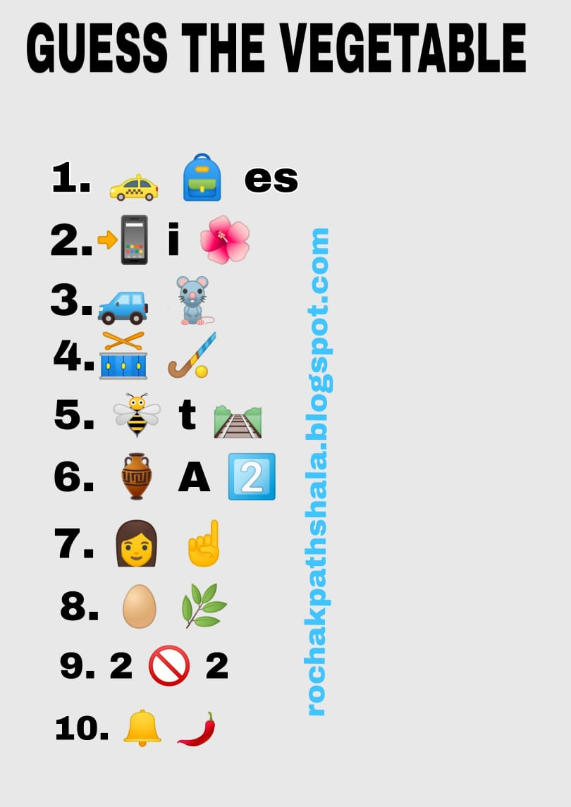 whatsapp emoticons riddles guess the vegetables challenge ...