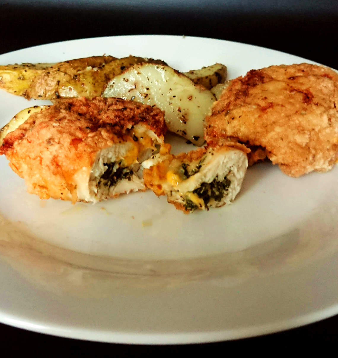 Allergy Friendly Chicken Kiev with homemade wedges