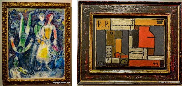 Obras de Chagall e de Torres-García no Museu Botero, Bogotá