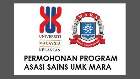 Permohonan Program Asasi Sains UMK MARA 2017
