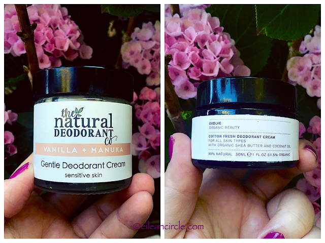 Natural deodorant, desodorante natural, Evolve Organic Beauty, The Natural Deodorant Co, cosmética natural