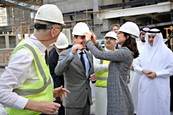 Crown Prince Frederik and Crown Princess Mary of Denmark visited King Abdullah Financial District, which is the new financial district in Riyadh and architects Henning Larsen Architects is behind
