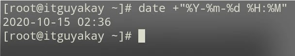 date command examples in Linux