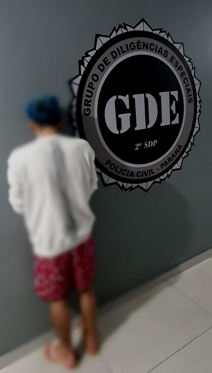 Laranjeiras do Sul: Polícia Civil (GDE) cumpre mandado de prisão condenado por roubo e furto