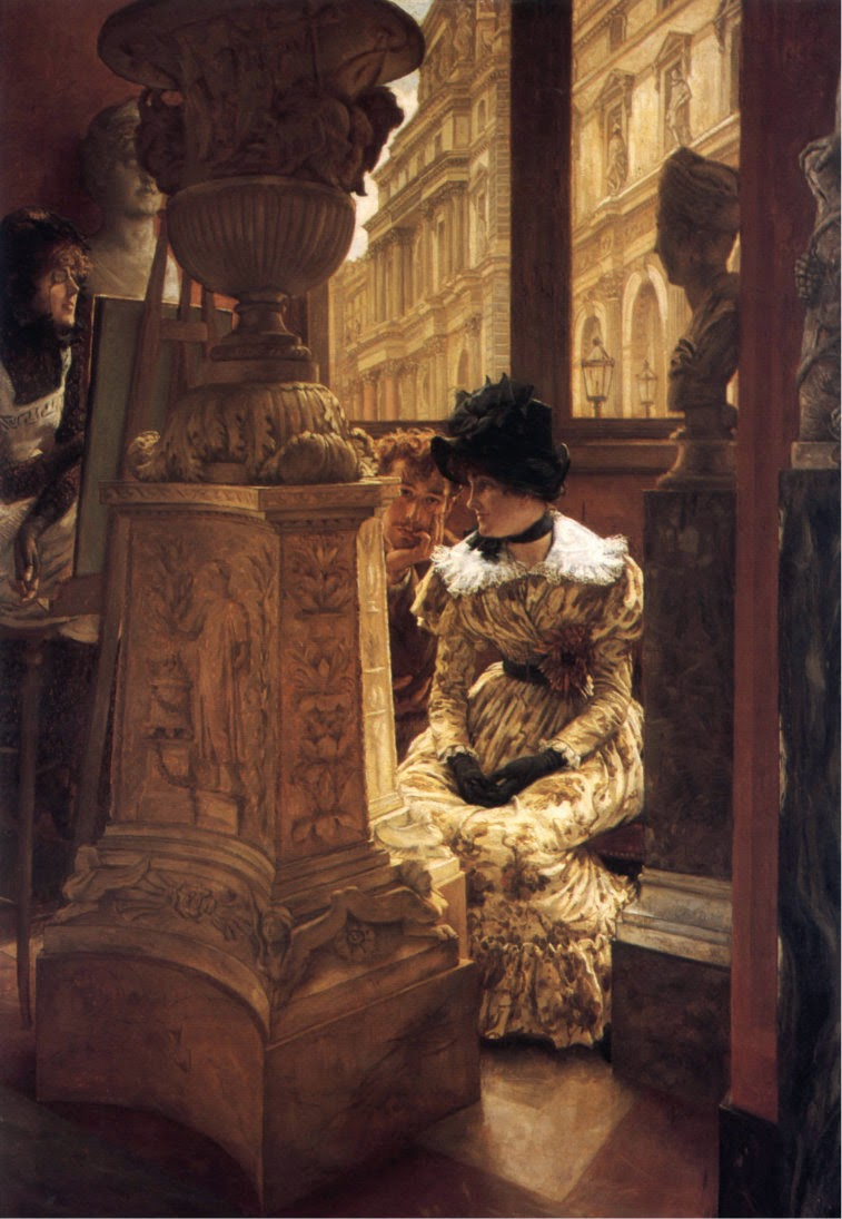 James  Tissot     In  the  Louvre C