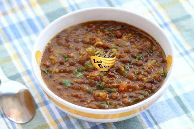 Sabut Masoor Dal Recipe in Hindi