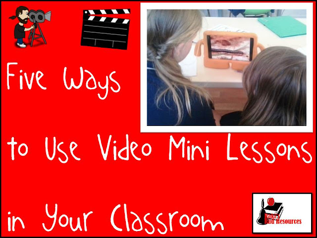 Five ways to use video mini lessons in your classroom - suggestions from Raki's Rad Resources, Flipped Classroom