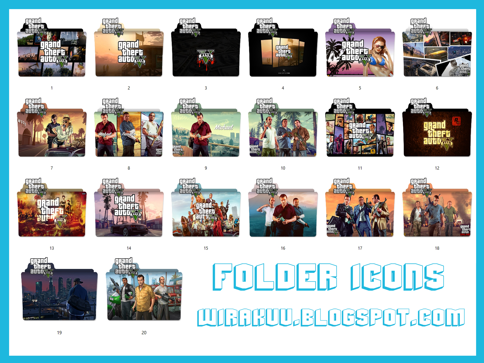 20 Folder Icons Game Grand Theft Auto 5