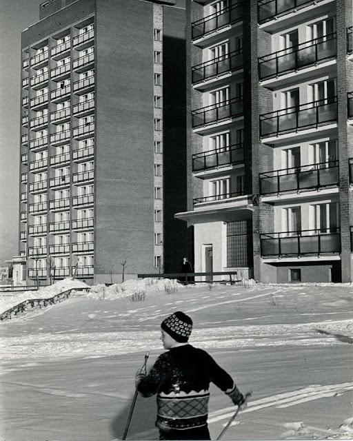 1970 год. Рига. Югла-3. Юный лыжник