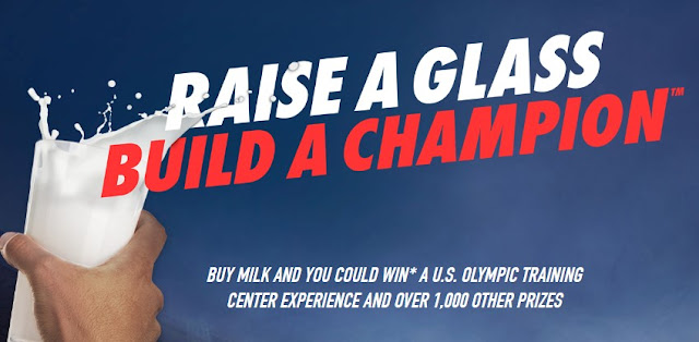 We all know MILK does a body good. Now, Milk can REALLY do a body good because it's giving you a chance to enter to win a US Olympic Training Center experience and over 1000 other prizes!