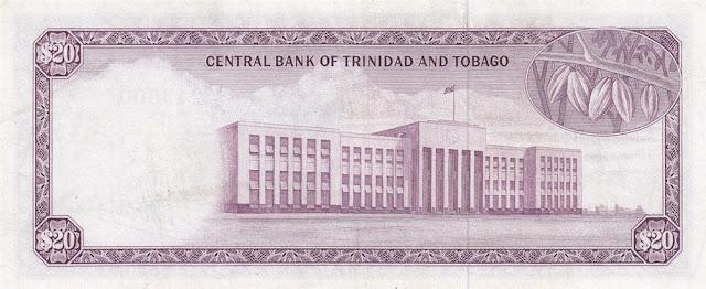 Trinidad and Tobago currency 20 Dollar banknote bill