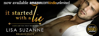 Release Blitz IT STARTED WITH A LIE by Lisa Suzanne
