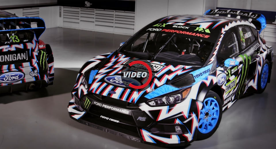 Ken Block S Updated Ford Focus Rs Rx Has A Crazy Livery