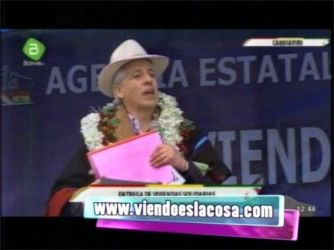 García Linera es honesto, no le gusta mentir