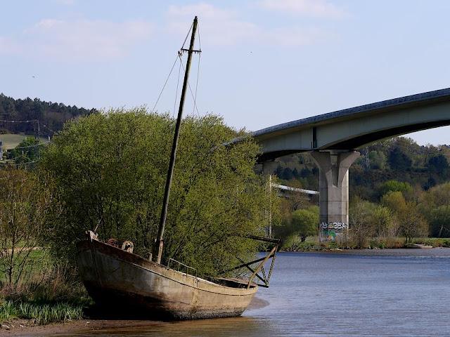 Le bateau fantome de la Belle Anguille à Redon