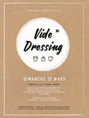 vide-dressing, affiche, nantes, bullelodie