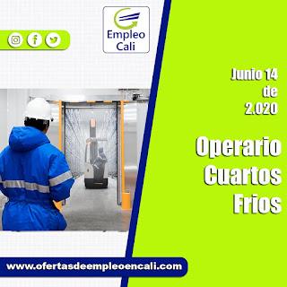 Importante empresa de alimentos requiere para su equipo de trabajo OPERARIO DE CUARTOS FRIOS