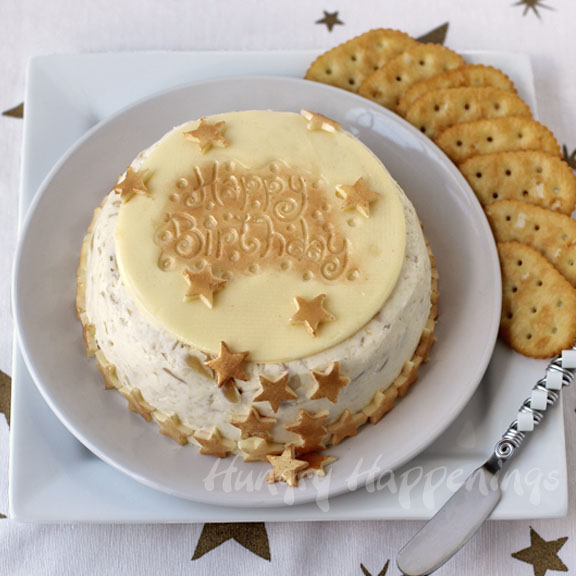 Elegant Cheese Ball Birthday Cake Is Perfect For Adult Birthday Parties