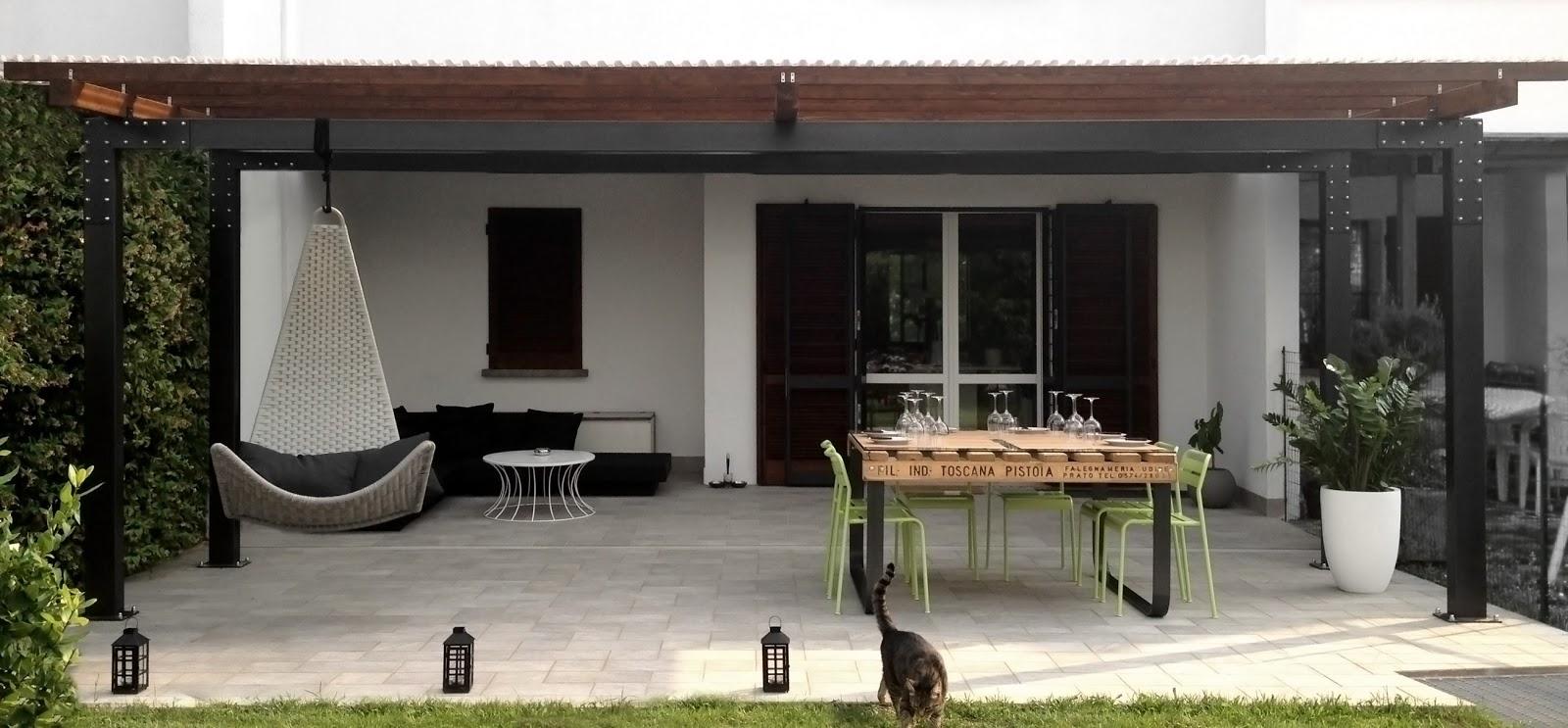 Details of us progetto porticato 1 divisori frangi sole for Ville con portico in legno