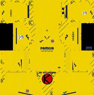 Villarreal CF 2019/2020 Kit - Dream League Soccer Kits