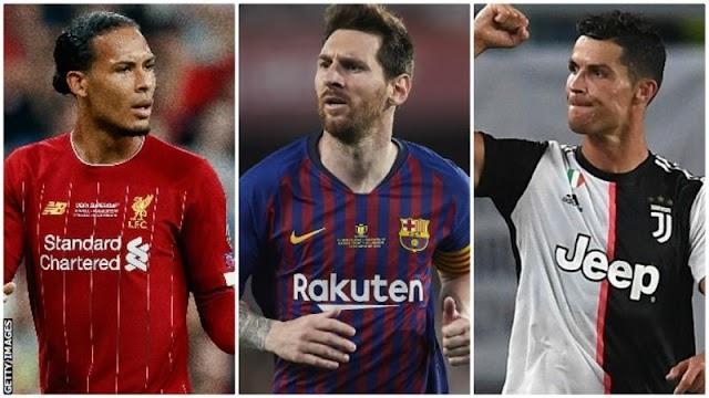 فان دايك وليونيل ميسي وكريستيانو رونالدو - من سيكون أفضل لاعب في أوروبا؟