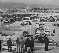 Zona de proves per a l'obtenció del carnet de conduir, Balconada (Manresa) 1974. Arxiu: Montepio de Conductors de Sant Cristòfol Manresa-Berga