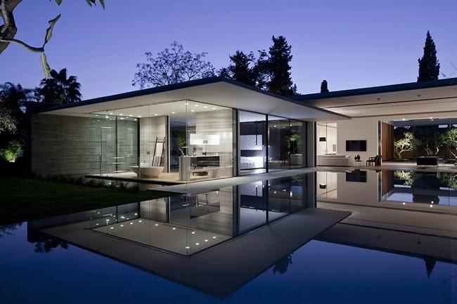 Casas minimalistas y modernas casa transparente en tel aviv for Casa minimalista vidriada