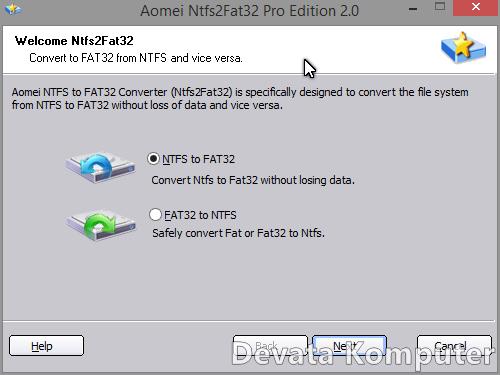 Cara Merubah FAT32 ke NTFS dan Sebaliknya Tanpa Format